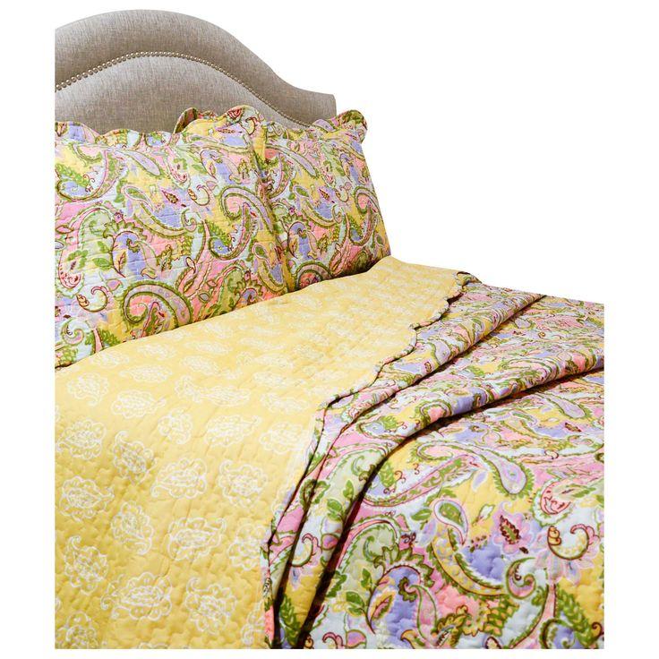 Pegasus Home Fashions Vintage Kiera Quilt Set