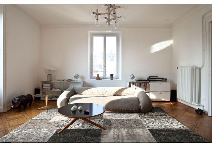 Dywany Patchwork :: Dywan naturalny vintage patchwork 8101 Black&White - czarno biały - Carpets&More - wysokiej klasy dywany i akcesoria tekstylne