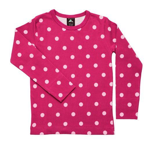 Beautiful Magenta shirt with soft powder pink polka dots.