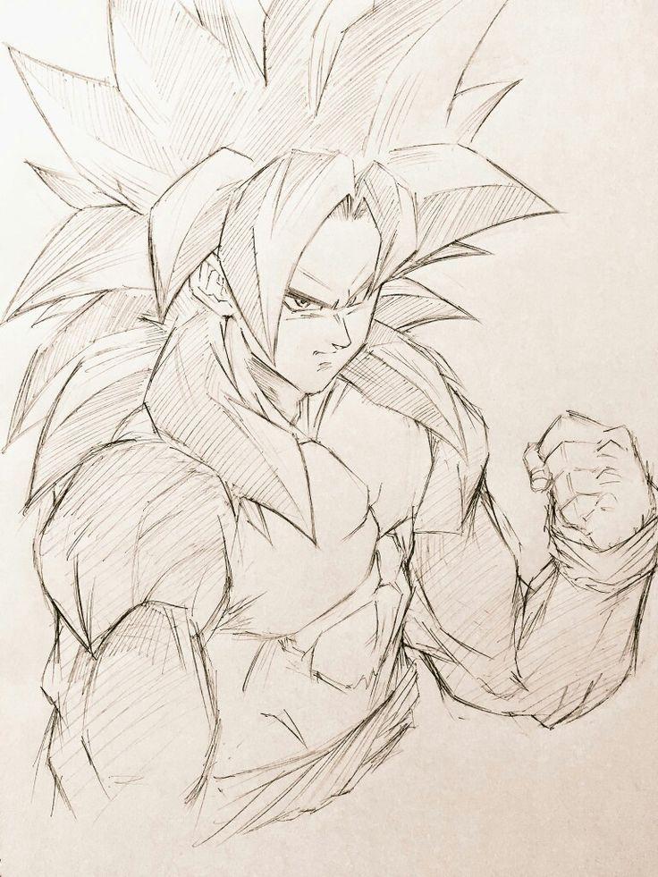 Super Saiyan 4 Goku Desenhos Dragonball Desenhos Desenhos De Anime