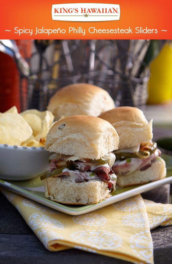 Just the right amount of kick added, with the all-new Jalapeño Rolls, to a favorite Philly Cheesesteak slider recipe.