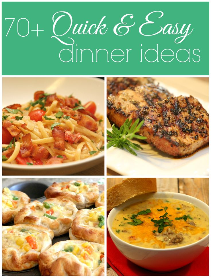 Fast easy good dinner recipes