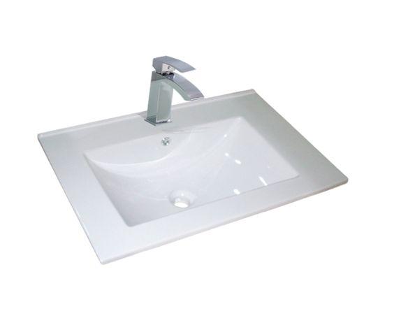 Dessus de vanité en porcelaine 24 pouces x 18 pouces pour robinet montrou - Dessus de meubles-lavabos - Mobiliers de salle de bain - Salles de bain - Produits - Bain Dépôt