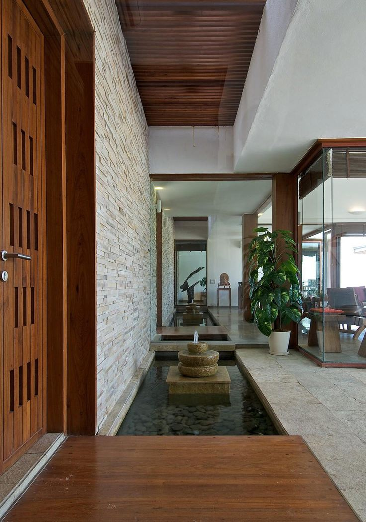 Water Feature, Glass Walls, Anish Amin House in Alibaug, India