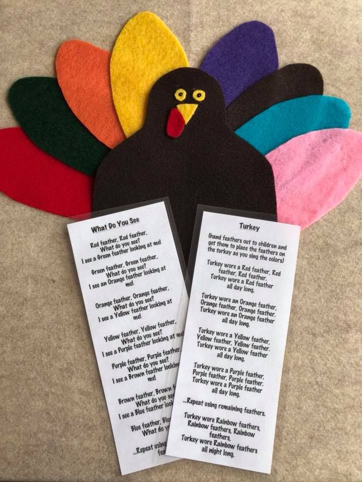 Felt stories are a creative way to share story time with your child.  This Turkey felt story comes with eight moveable coloured feathers to encourage your child to learn and identify colours.  Each felt story comes in a resealable bag along with a laminated story/poem or verse. Perfect for children, parents, babysitters, day home providers, and early childhood educators.