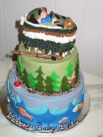 Fishing Baby Showers, Couples Baby Showers, Baby Shower Themes, Baby Shower  Cakes, Shower Ideas, Hunting Cakes, Hunting Themes, Fishing Cakes, Theme  Cakes