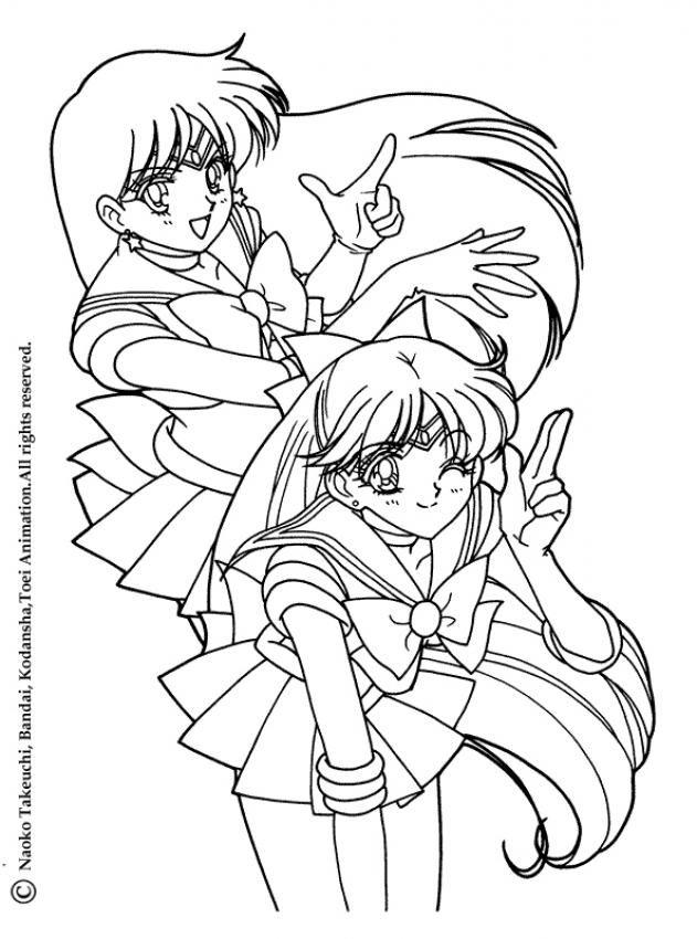 free sailor venus coloring pages - photo#13