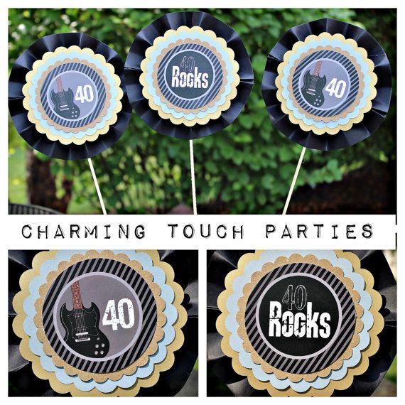 40th birthday party decor 40 rocks centerpiece for 40th birthday decoration packs