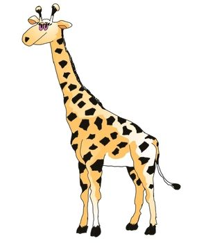 Wild Animal: Giraffe - Color | Jirafas