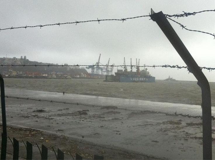 Mucha lluvia y viento en Valparaíso 28 de mayo 2013