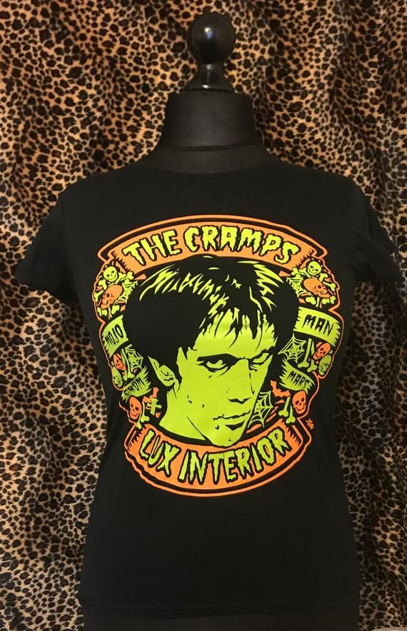 LADIES PSYCHOBILLY T-SHIRT CRAMPS LUX INTERIOR /& POISON IVY HORROR STAY SICK!