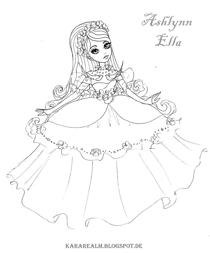 19 best images about cerise my fav character from ever for Ella coloring pages