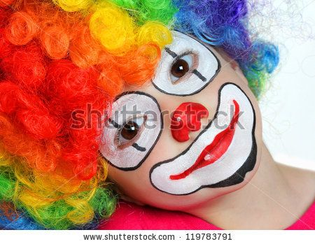 Happy+Clown+Face+Painting+for+kids | Pretty Girl With Face Painting Of A Clown Stock Photo 119783791 ...