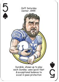 jeff saturday football card | Football Playing Cards for Indianapolis Colts Fans