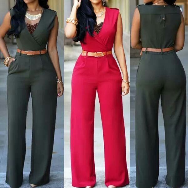 Ankle Length Jumpsuit! Love it, would love one in blue, green, beige and yellow!! XOXO