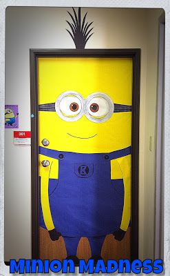 My classroom door has fallen victim to Minion Madness!