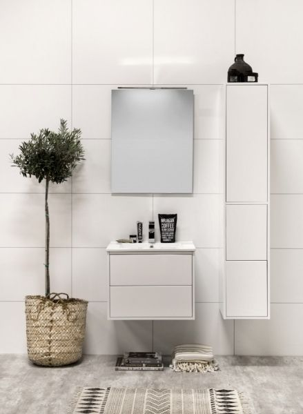 Noro - Möbelpaket Avanti 600 i gruppen Badrum / Badrumsmöbler hos Stuvbutiken Strikt formgiven serie som förför med sina distinkta linjer och vackra porslin.