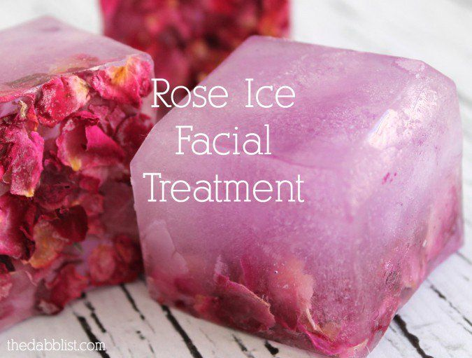 Rose Ice Facial Treatment- boil water for a facial steam & steam with towel over head for 1-2 min. then use the rose ice block to gently rub all over your face and neck. equal parts rosewater and filtered water and some dried rose petals.