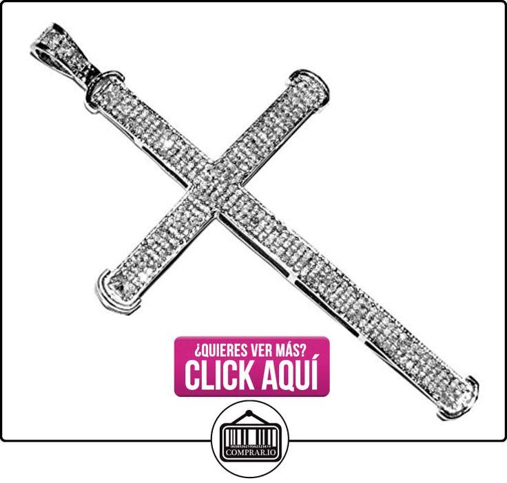 pendants-midwestjewellery Hombre 0.65quilates real diamante colgante en forma de cruz colgante de alto 53mm  ✿ Joyas para hombres especiales - lujo ✿ ▬► Ver oferta: https://comprar.io/goto/B018Z14SFI