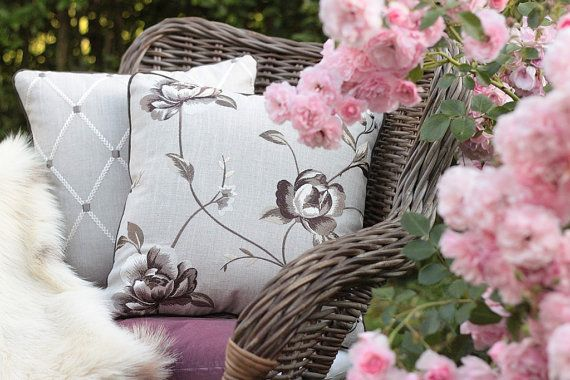 Floral decorative throw pillow cover  decorative by emeisonCOM
