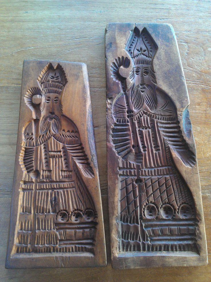 antieke Sinterklaasplanken - antique St Nicholas molds- Antik St Nikolaus…