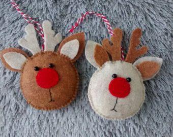 Christmas ornaments felt-Christmas Reindeer от SweeToysBaby