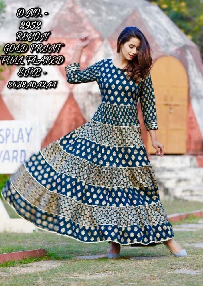 Women Kurta Kurti Indian Bollywood Designer Dress Bottom Long Tunic Top Gown New