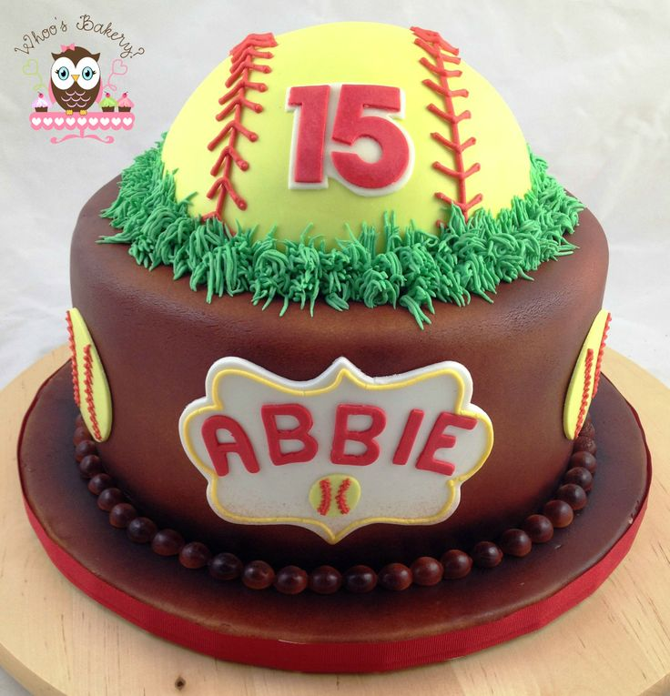 Softball Cake, Spartans Softball, baseball cake
