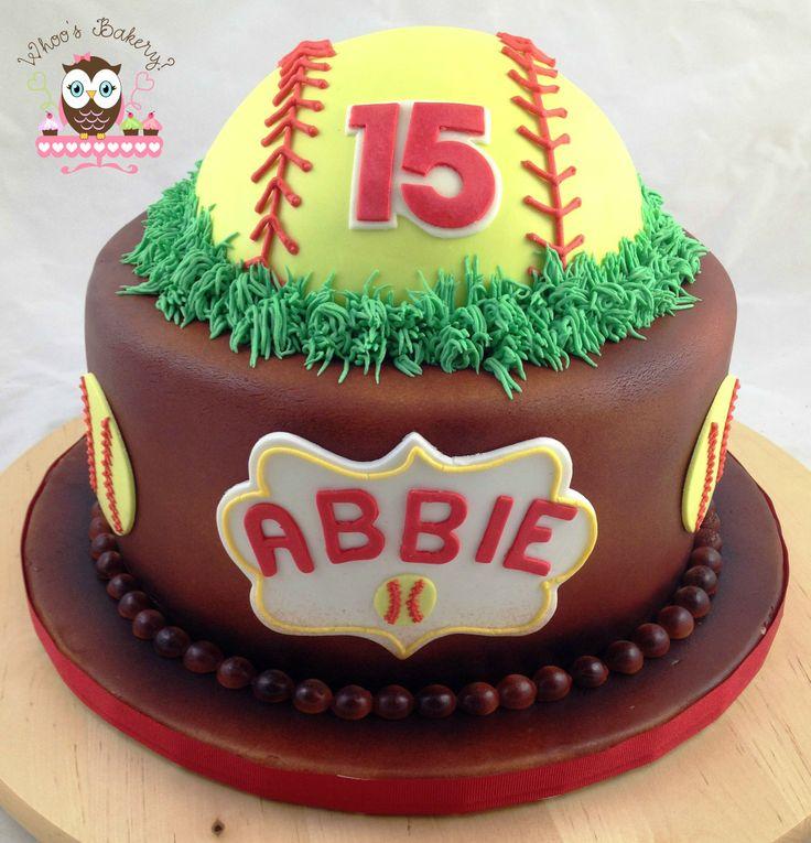 Softball Cake, Spartans Softball, baseball cake