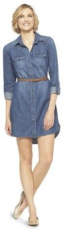 Merona Women's Denim Shirt Dress