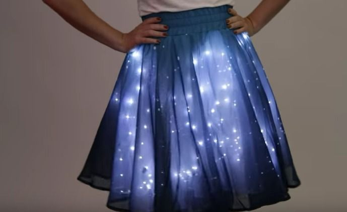 How to Make a Twinkling Stars Skirt from ThinkGeek