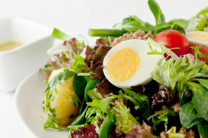 Tuna, Red Onion, And Bean Salad With A Soft-boiled Egg Recipes ...