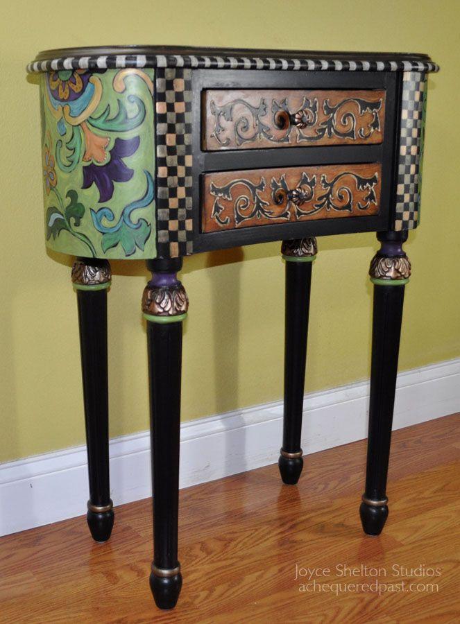 My Friend Joyce Shelton Creates The Most Amazing Hand Painted Furniture!