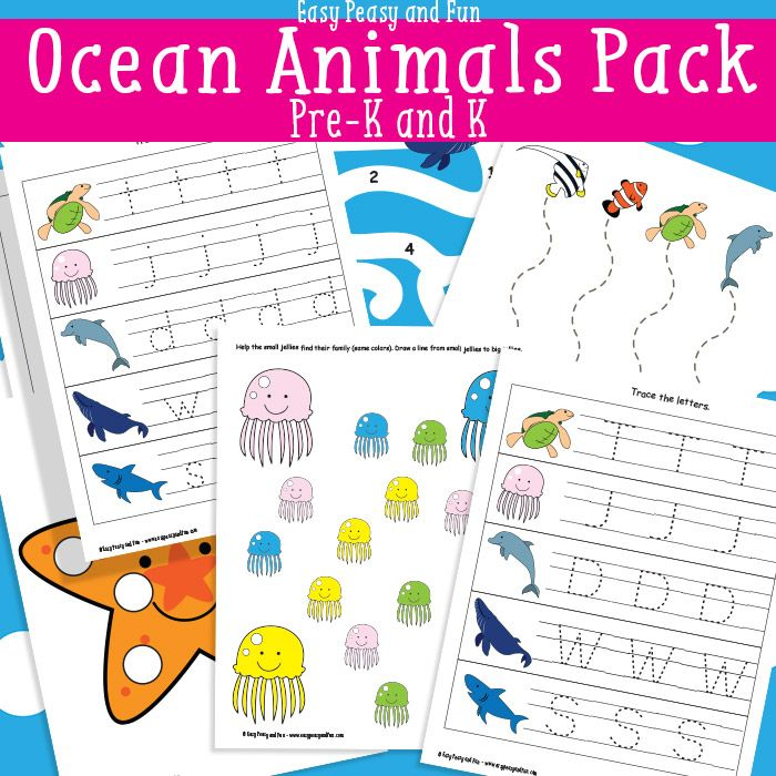 Ocean Animals Printables For Kids - Easy Peasy and Fun