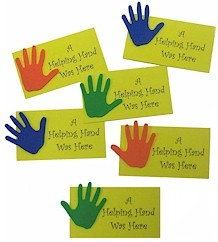 Helping Hands Cards, what a cute way to earn their yellow petal.