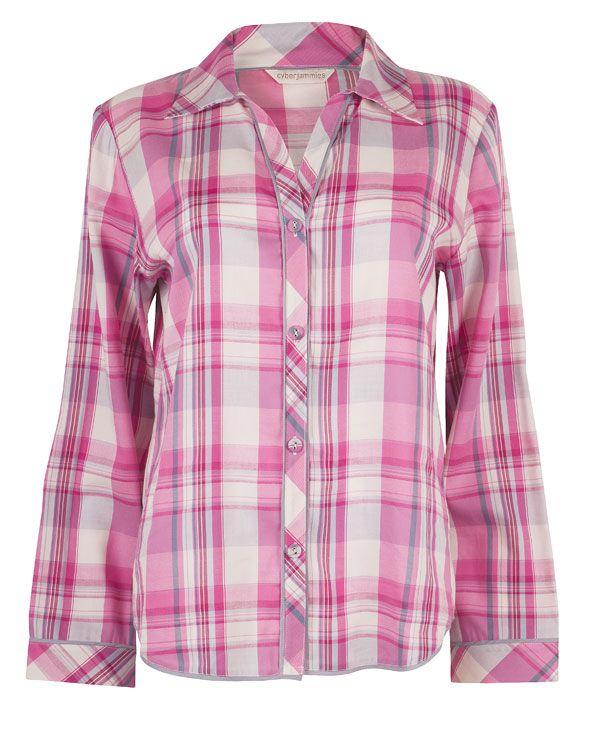 Isabel Lightly Brushed Check Pyjama Top