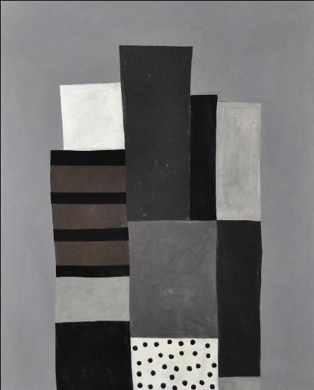 "Milton Ausherman: untitled (v3), oil on canvas, 73""x 90"", 2011"