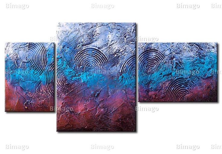 Quadro Sogni  - quadro astratto sfumeggiato // Abstract canvas art painting ombre colors blue,purple pink and red