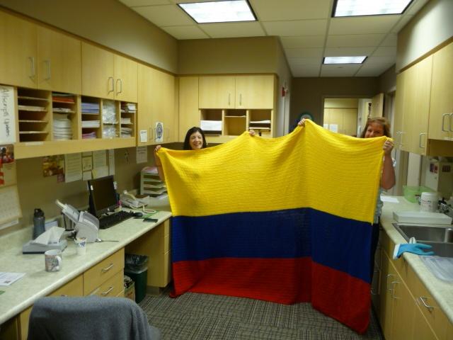 Crocheted Colombian Flag Blanket