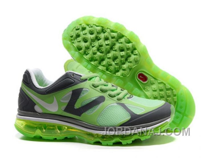 2013 For Sale Air Max 2012 Womens Shoes Breathable Online Green Grey -