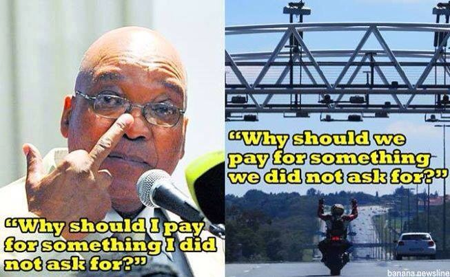Jacob Zuma....giving us the finger