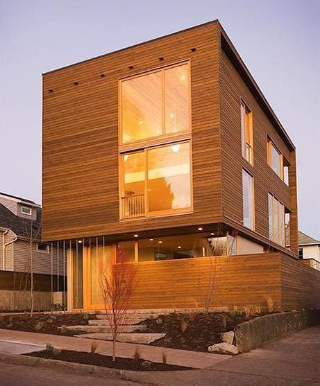 House Siding Design Ideas: Modern House Siding Ideas. Perfect Plywood Siding With