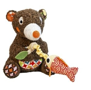 Woodours Musical Fishing Bear