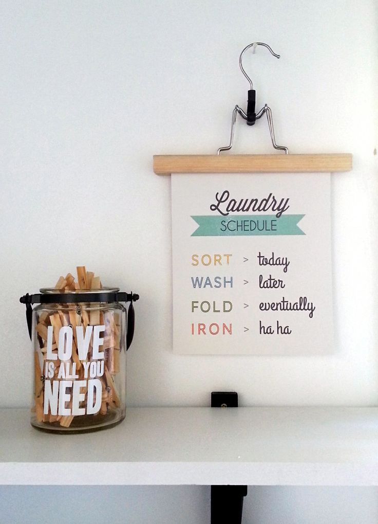 FREE LAUNDRY QUOTE PRINTABLE. wash, fold, sort, iron. Quirky quotes Download at http://inmystudio.com.au/2014/01/27/laundry-love-or-loath/