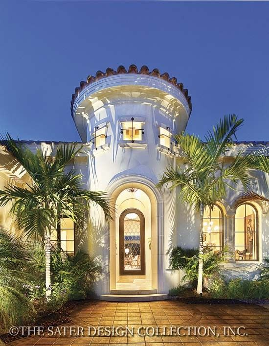 23 Best Spanish Colonial Home Plans   The Sater Design Collection Images On  Pinterest | Home Plans, Arch Windows And Elevation Plan