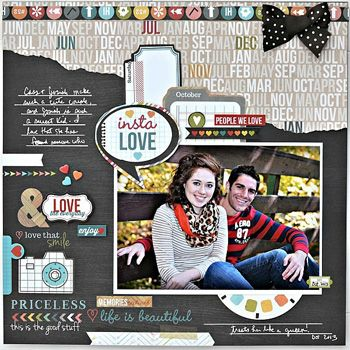 My Creative Scrapbook January Creative Kit by Alicia Giess.