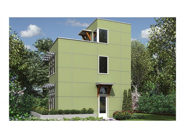 3 story 728 square foot ready to build house plan from for Ready to build house plans