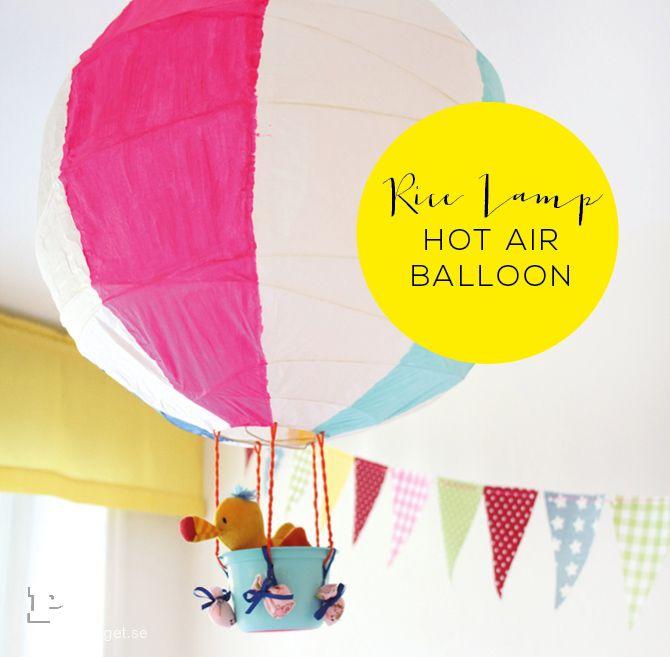 Make a Hot Air Balloon of a Rice Lamp