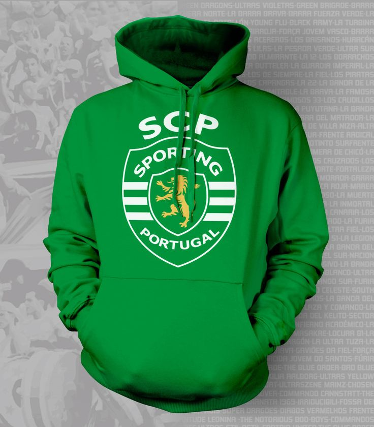Show your passion and stay warm with this beautiful Sporting Lisboa Hoody/Sweatshirt. - Gildan Heavy Blend - Classic Fit Hooded Sweatshirt - 50% Cotton / 50% Polyester - Air Jet Yarn = Softer Feel and