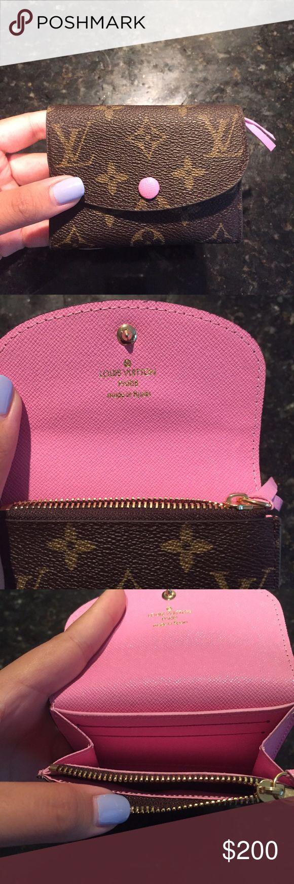 Louis Vuitton Rosalie Coin Purse 2 credit card slots, 1 zipped coin pocket, real calf leather Louis Vuitton Bags Wallets